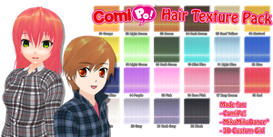 ComiPo! Hair Texture Pack by AKIO-NOIR