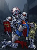 Supergirl defeated by Brainiac by cuttlesquid
