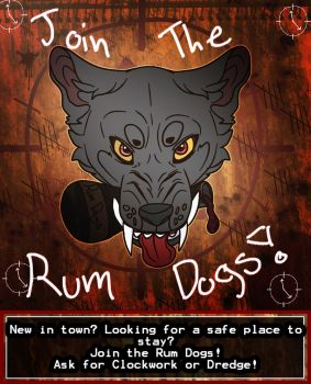 Rum Dog Poster by Apocalyptic-Vagabond