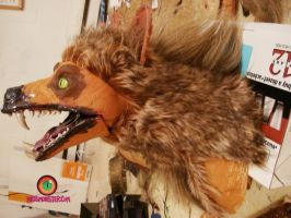 Coyote head furring by missmonster