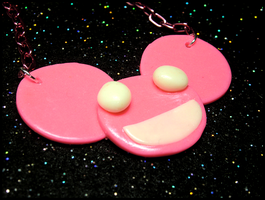 Mau5head Neon Glowing Necklace by GrandmaThunderpants