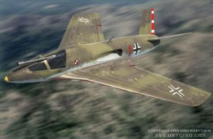 Messerschmitt Me-P.1112 by Oxygino