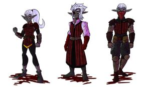 Dark Elf Set 1 by Eternal-Shadow-S