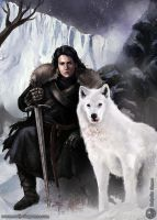 Jon Snow from the Wall by nathaliagomes