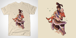 Korra and Aang (Tshirt) by Yamino
