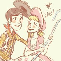 Woody and Bo Peep by mexicananime06