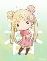 Chibi Spring Usagi by BemiTellove