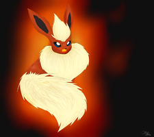 Flareon uses fire fang by Kalinel