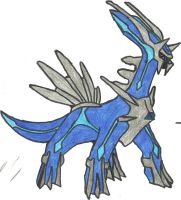 Dialga Coloured by CoolMan666