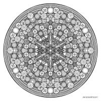 Mandala drawing 26 by Mandala-Jim