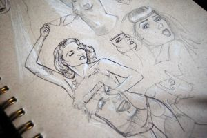 Burlesque sketches by bec1989