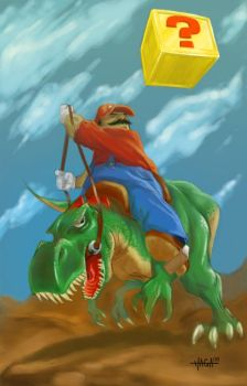 Mario And Yoshi by dead-pixels