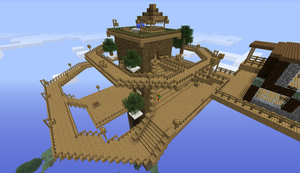 Minecraft Project # 1: Treeint Village by twixthepichu