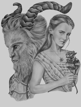 Beauty And The Beast by ThereseDrawings