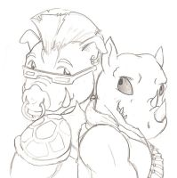 Bebop and Rocksteady 87 style by Goldbryn