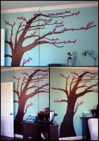 Blossoming Tree Mural by Verdego