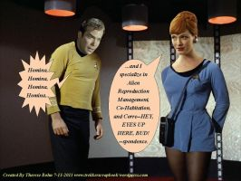 Kirk Meets Miss Holloway by Therese-B