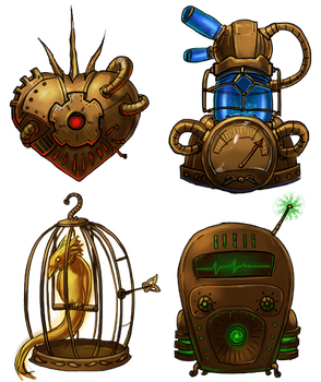 steampunk icons by Larbesta