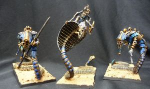 Tomb Kings snake things by Solav