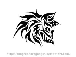 Sun Wolf Tribal by TheGreenDragonGirl