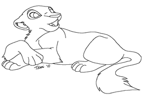 Snow Leopard MS Paint Lineart by TikamiHasMoved