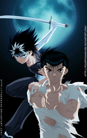 Yusuke and Hiei by themnaxs