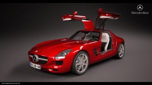 Mercedes SLS AMG 2011 studio by FiLiPpO92