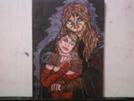 BEAUTY AND THE BEAST SKETCH CARD by shawncomicart