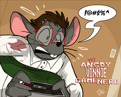 Livestream Doodle: Angry Vinnie Game Nerd by KUWTComicsInc
