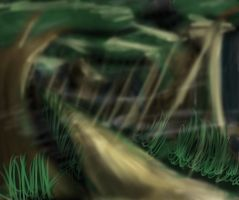 Speedpaint forest 1 by autobotchari