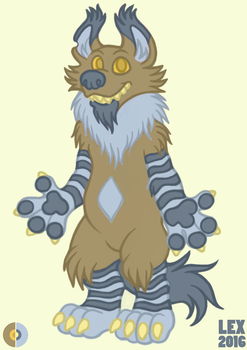 Brown Hyena/Gnoll Adoptable by lexblue
