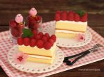 Classic Vanilla Cake with Fresh Raspberries by theresahelmer