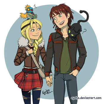 Httyd 2 - Hiccup and Astrid by Eyoha