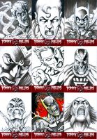 Sketch Cards 9 up by TommyPhillips