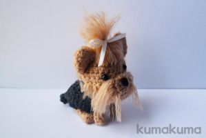 Yorkshire Terrier amigurumi by kumakumashop