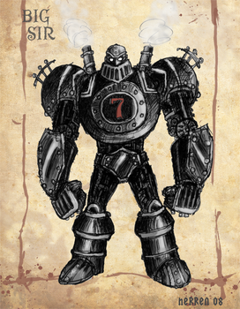 Big Sir - Steampunk Robot by herrenmedia