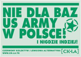 Poster against US bases in .pl by 13VAK