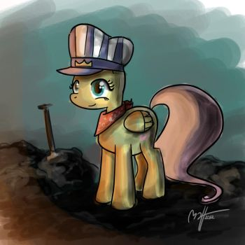 Fluttershy the Train Conductor by MateusUK