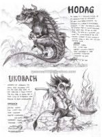 Hodag and Ukobach by artstain