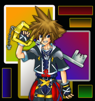 Sora from KH2 Colours by BuD-bUd