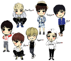 Kpop Chibi: OH BOY!  GOT7 by xxxRinRulesxxx