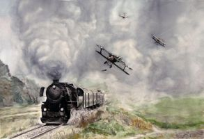 Roland neiports and a train by Legehk
