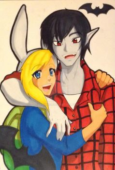 Fiona and Marshall Lee by iBunniee
