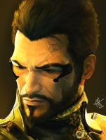 Adam Jensen by demonunicorn
