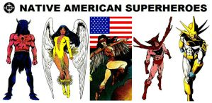 DC Native American Superheroes by StevenEly