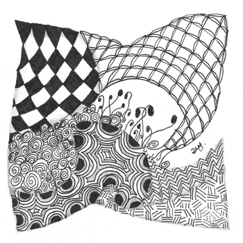Zentangle for Day 17 of Inktober by Wenchkin