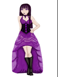 Purple bustle dress goth girl by nyc-girl
