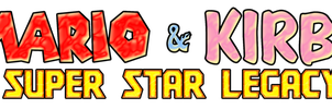 Mario and Kirby Super Star Legacy - Logo by KingAsylus91