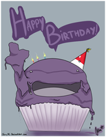 Happy Birthday Card: Muk by JerryRC