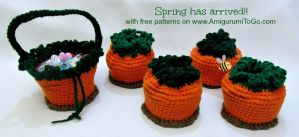Crochet Carrot Basket by sojala